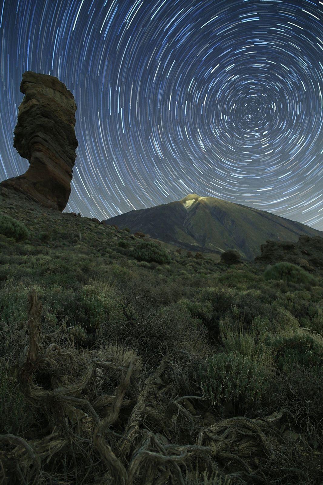ночь тенерифе ночной пейзаж астрофотография звезды созвездия, Рева Михаил