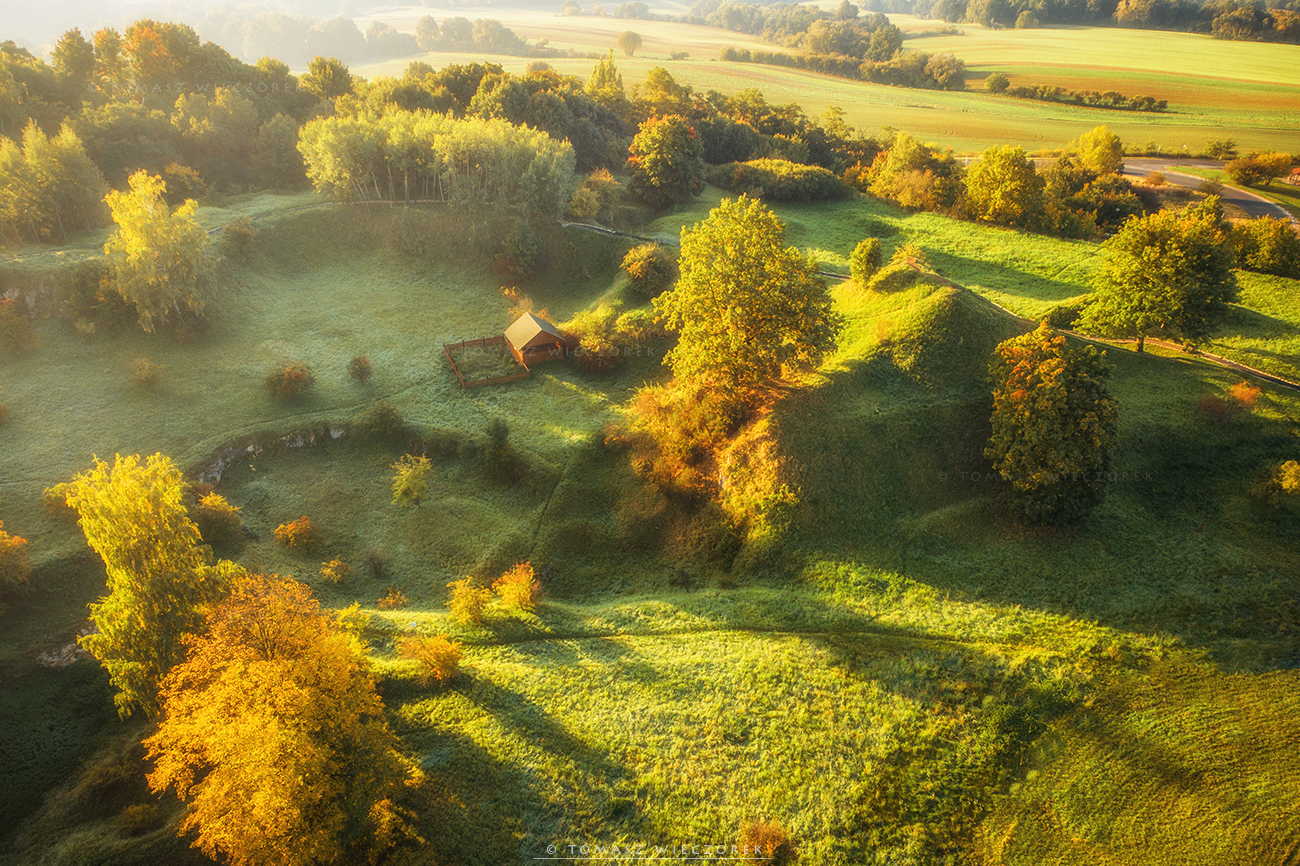 landscape, poland, light, autumn, awesome, amazing, sunrise, sunset, lovely, nature, travel, drone, trees, orange, shadows, dji, Tomasz Wieczorek