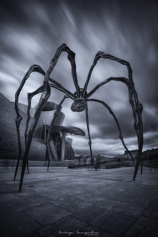 #sculpture #bw #arquitecture #darkmood #spider, SAMPEDRO SORAYA