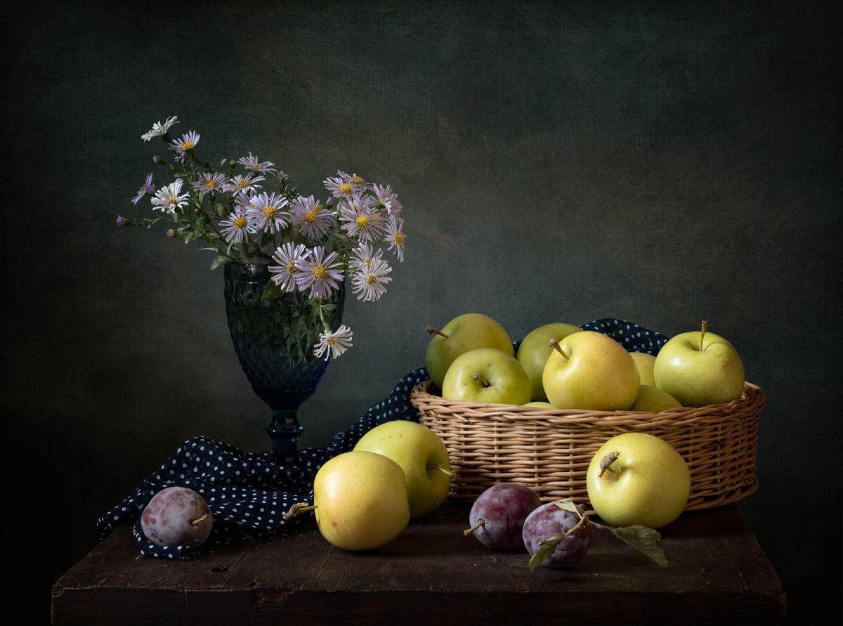 натюрморт, фрукты, яблоки, Оля