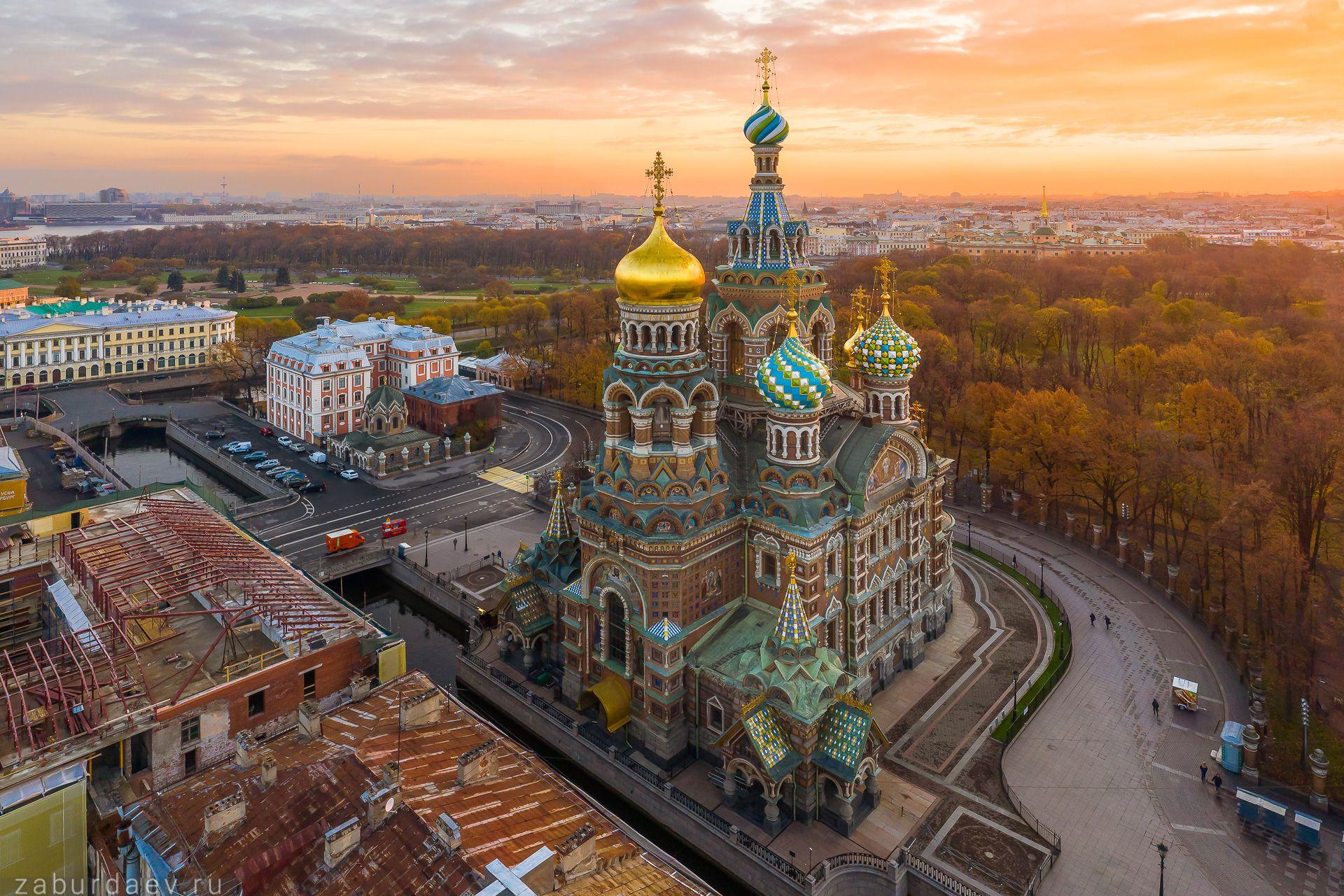 россия, петербург, осень, рассвет, Станислав Забурдаев