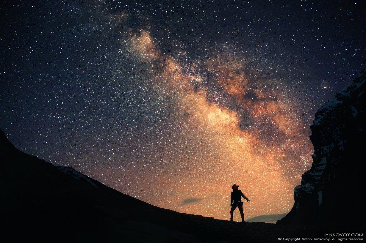 Annapurna region, Himalayas, Man, Milky way, Nepal, Night photography, Space, Stars, Universe, Непал, Гималаи, Млечный Путь, зв, Антон Янковой (www.photo-travel.com.ua)