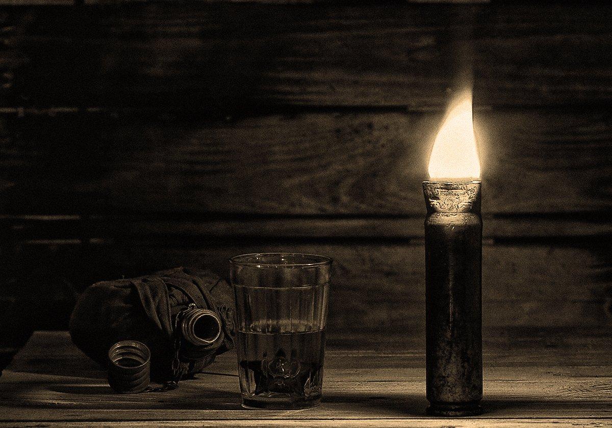 Боевые ордена, Гильза гидьза-светильник, Натюрморт нагарада, Орден Красной звезды, Стакан, Александр Кожухов