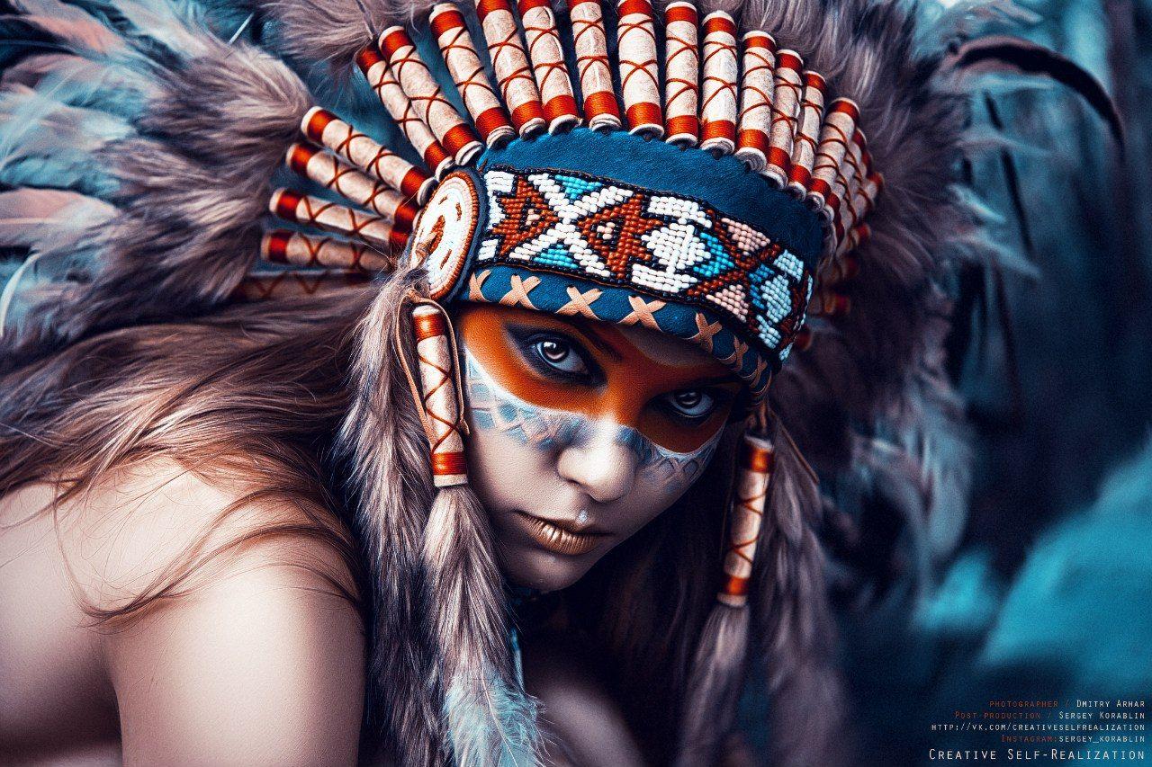 Art, Dmitry Arhar, Girl, Glamour, Model, People, Portrait, Woman, Арт, Девушка, Индейцы, Портрет, Портрет девушки, Фотосессия, Dmitry Arhar