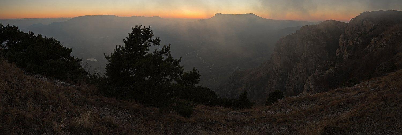 демерджи, крым, осень, закат, горы, Nikolai (locus)