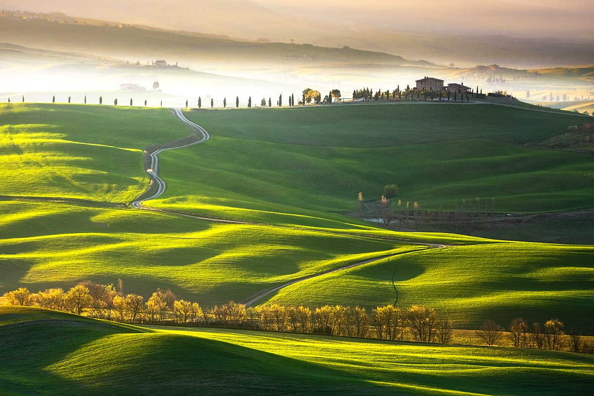 Morning, Spring, Tuscany, Boguslaw Strempel