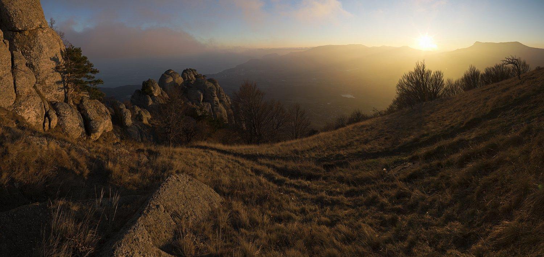горы, демерджи, закат, крым, осень, Nikolai (locus)