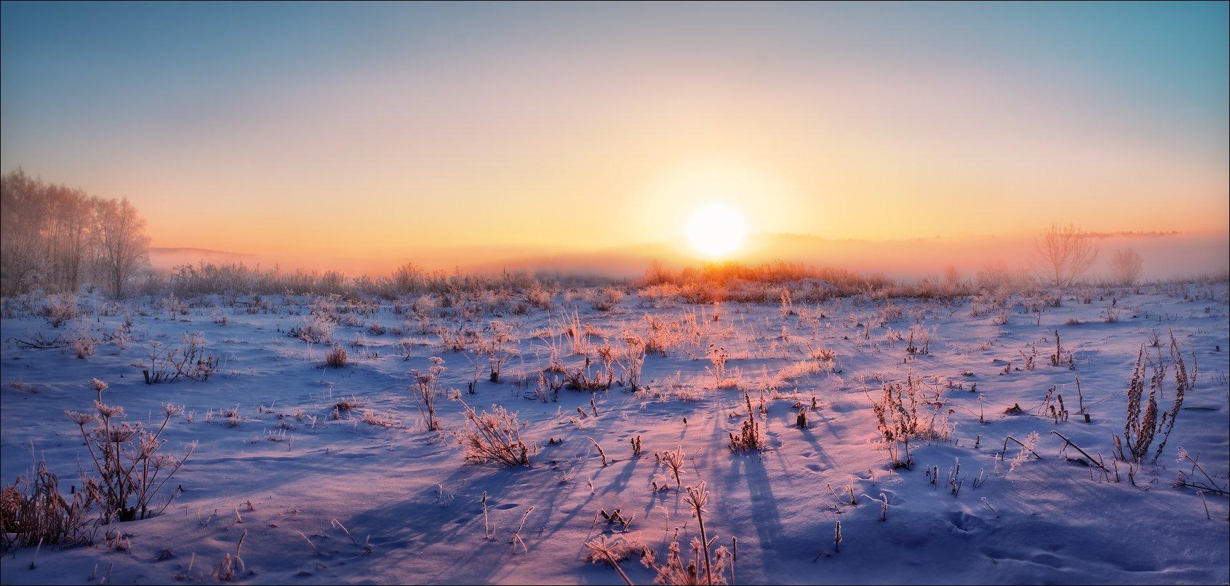Дымка, Зима, Рассвет, Сергей Шабуневич