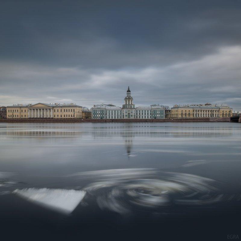 drift, floating, ice, Kunstkamera, neva, saint petersburg, Кунсткамера, ледоход, нева, санкт-петербург, EGRA