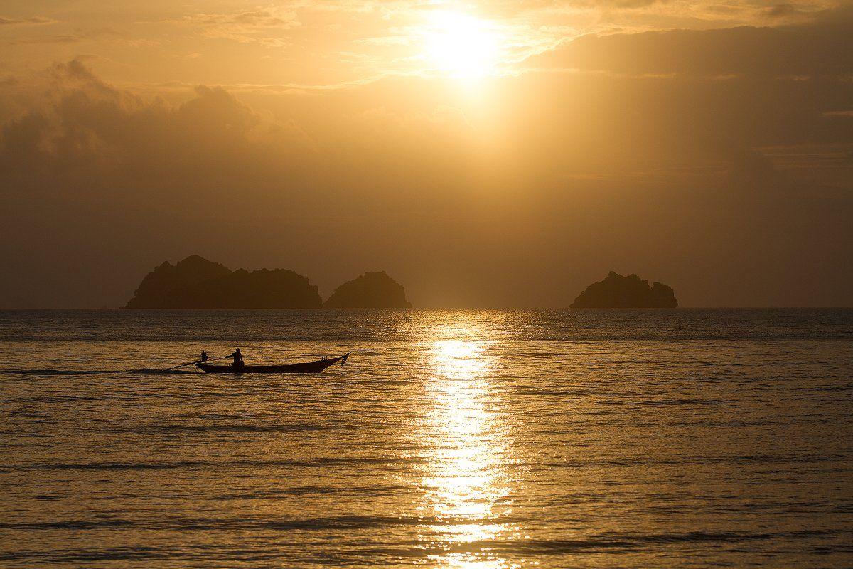 Таиланд, остров, самуи, рыбак, лодка, закат, Владимир Куцый