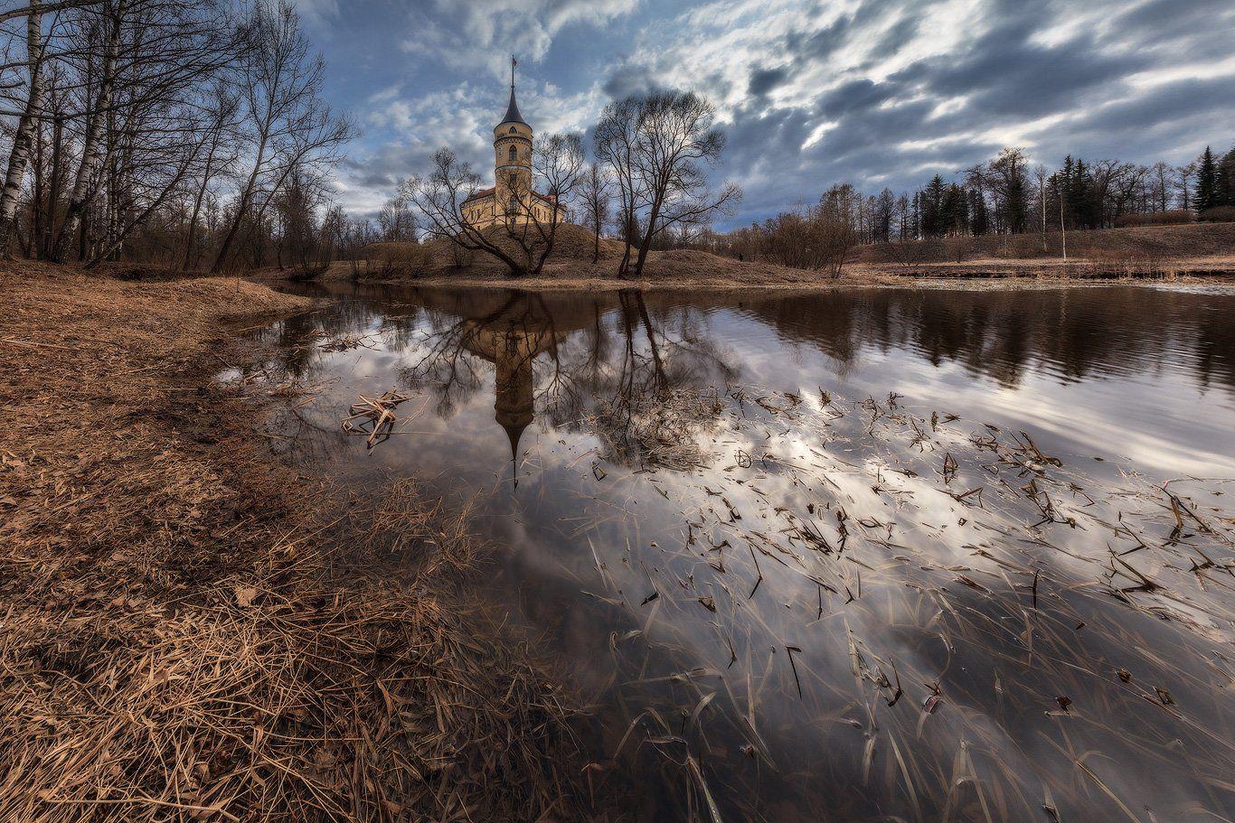 павловск, бип, россия, весна, панорама,, Илья Штром