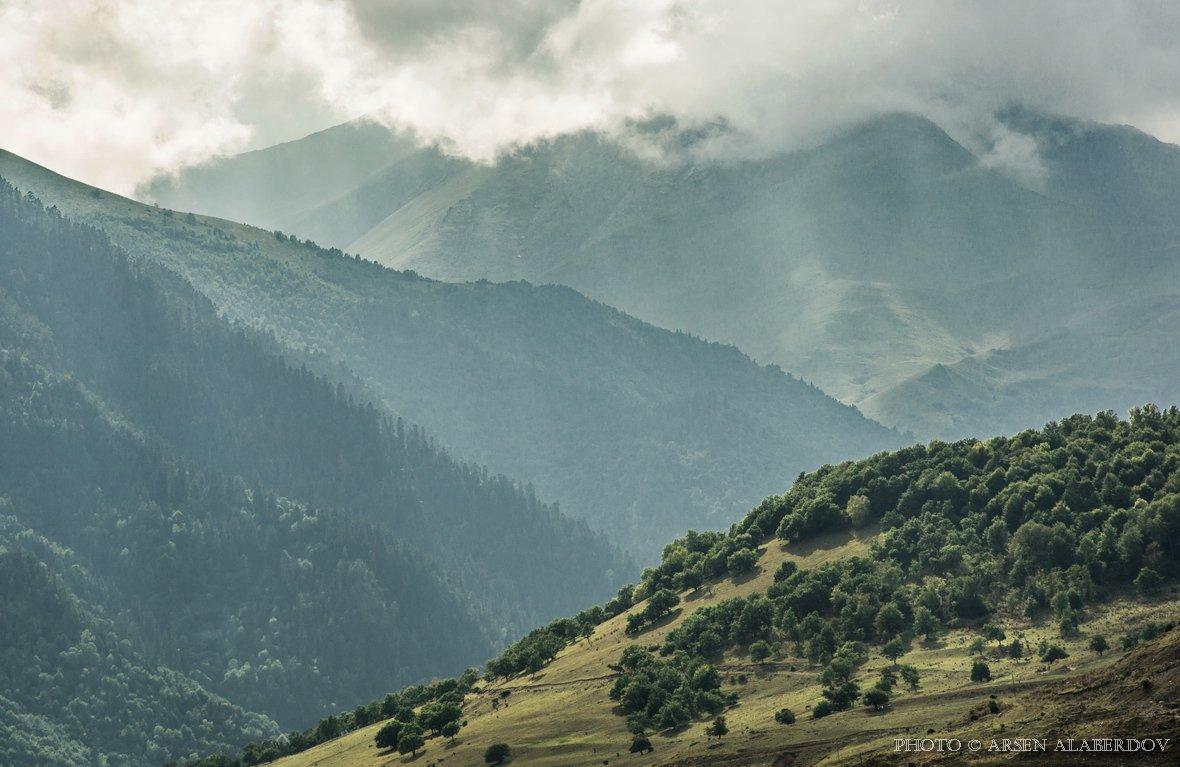 ГОРЫ, Кавказ, Карачаево-Черкесия, Облака, Свет, Северный Кавказ, Тучи, АрсенАл