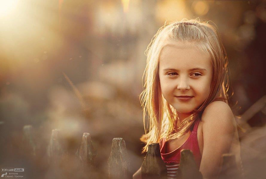 Дети, Закатное солнце, Портрет, Фотосессия, Сергей Урюпин