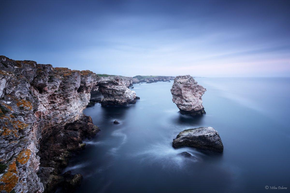 Bulgaria, seascape, cliff, morning, Милен Добрев
