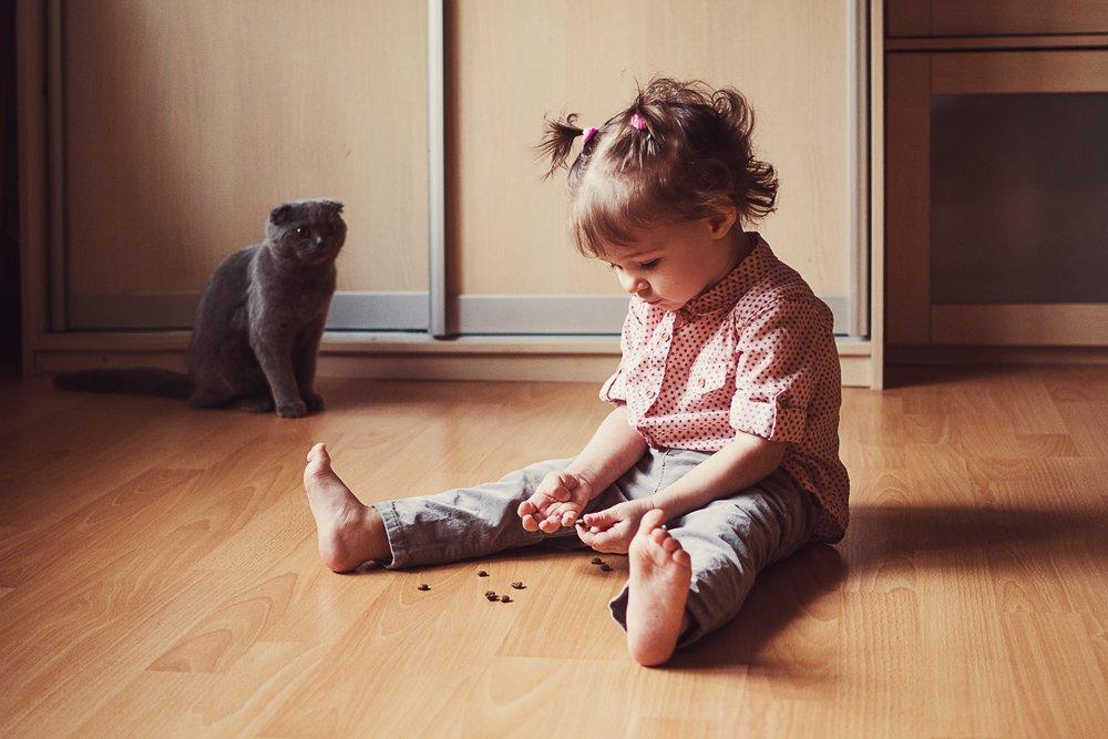 девочка, кошка, Ирина Сиротова