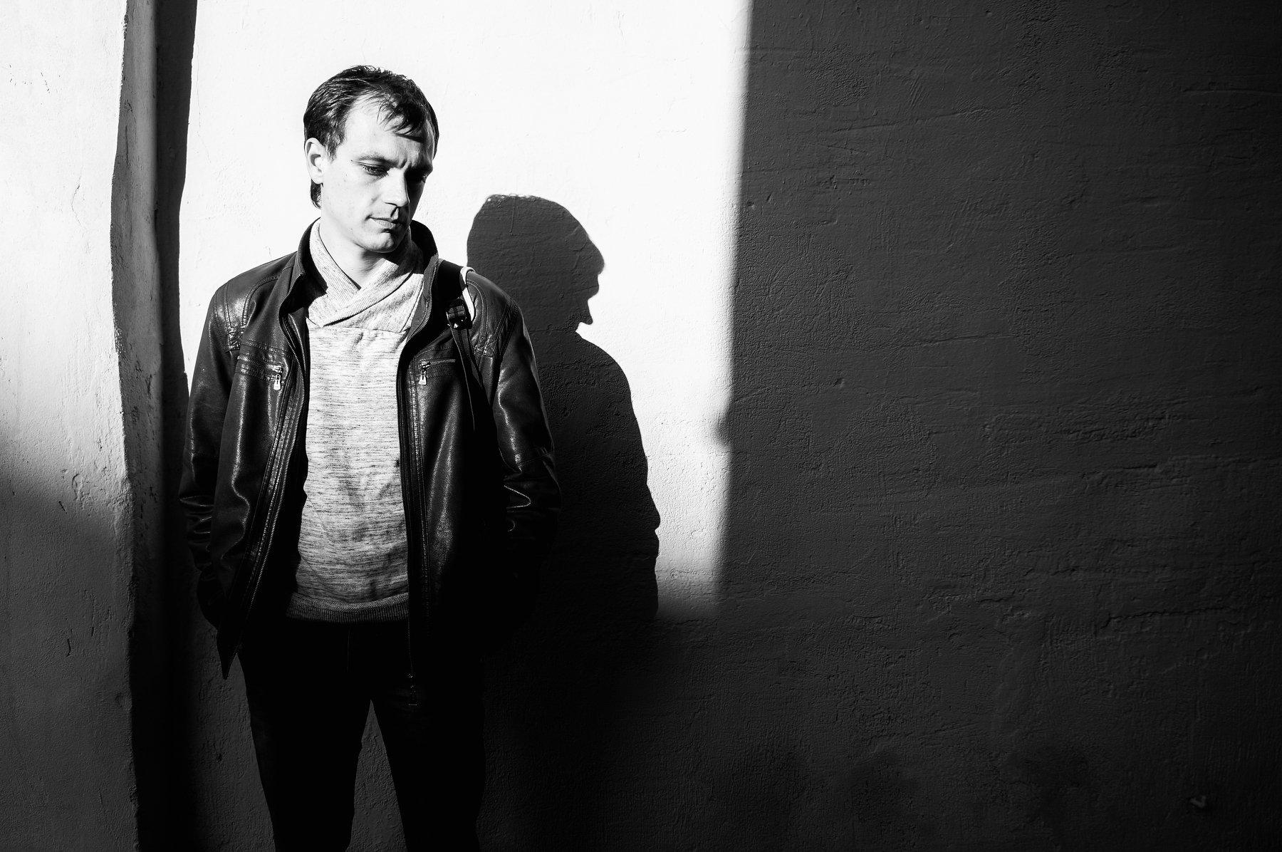 мужчина, портрет, свет, тень, masyaxa