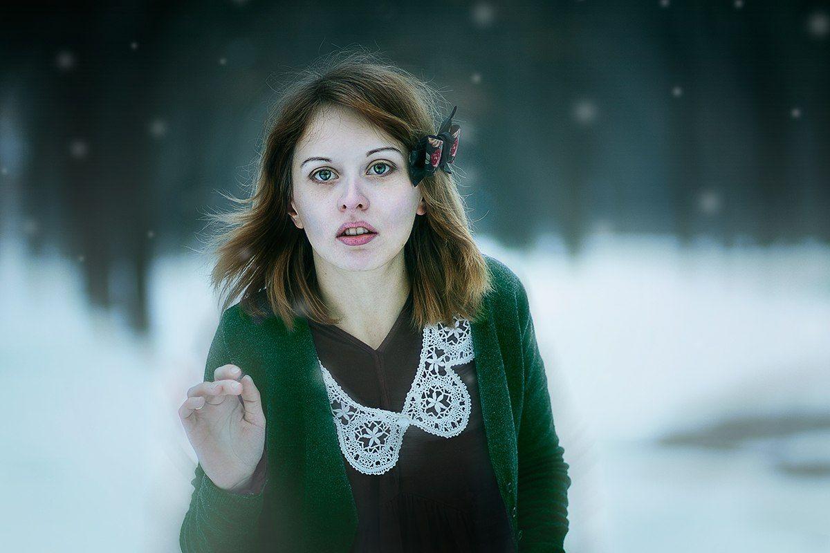 winter,portrait, 85 mm 1.8, canon, , Полянская Елена