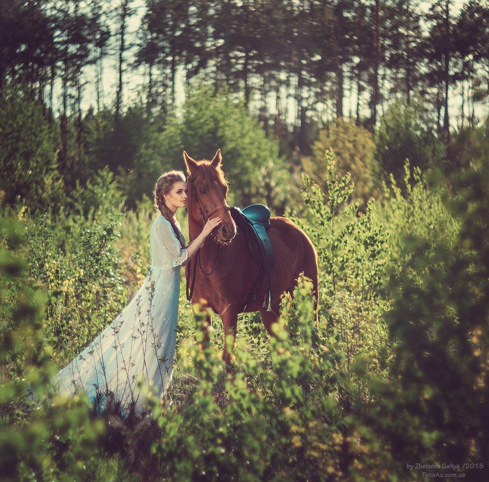 Девушка, Лошадь, Платье, Желнова Галия