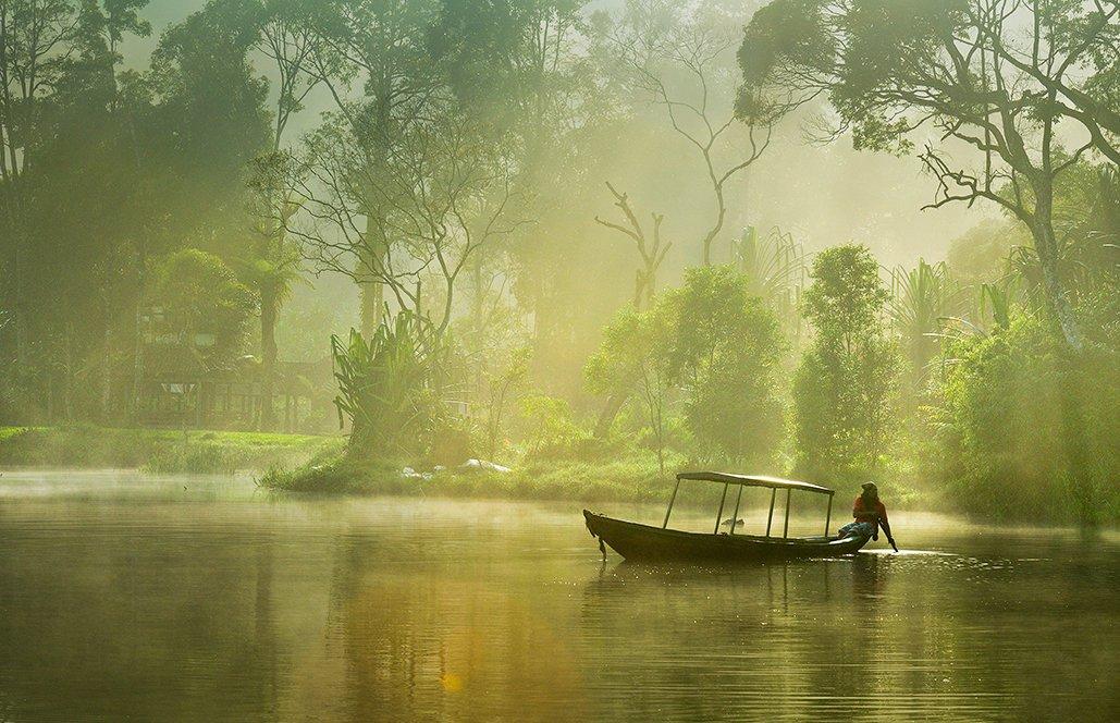 Lake, Landscape, Morning, Nature, People, Beni Arisandi