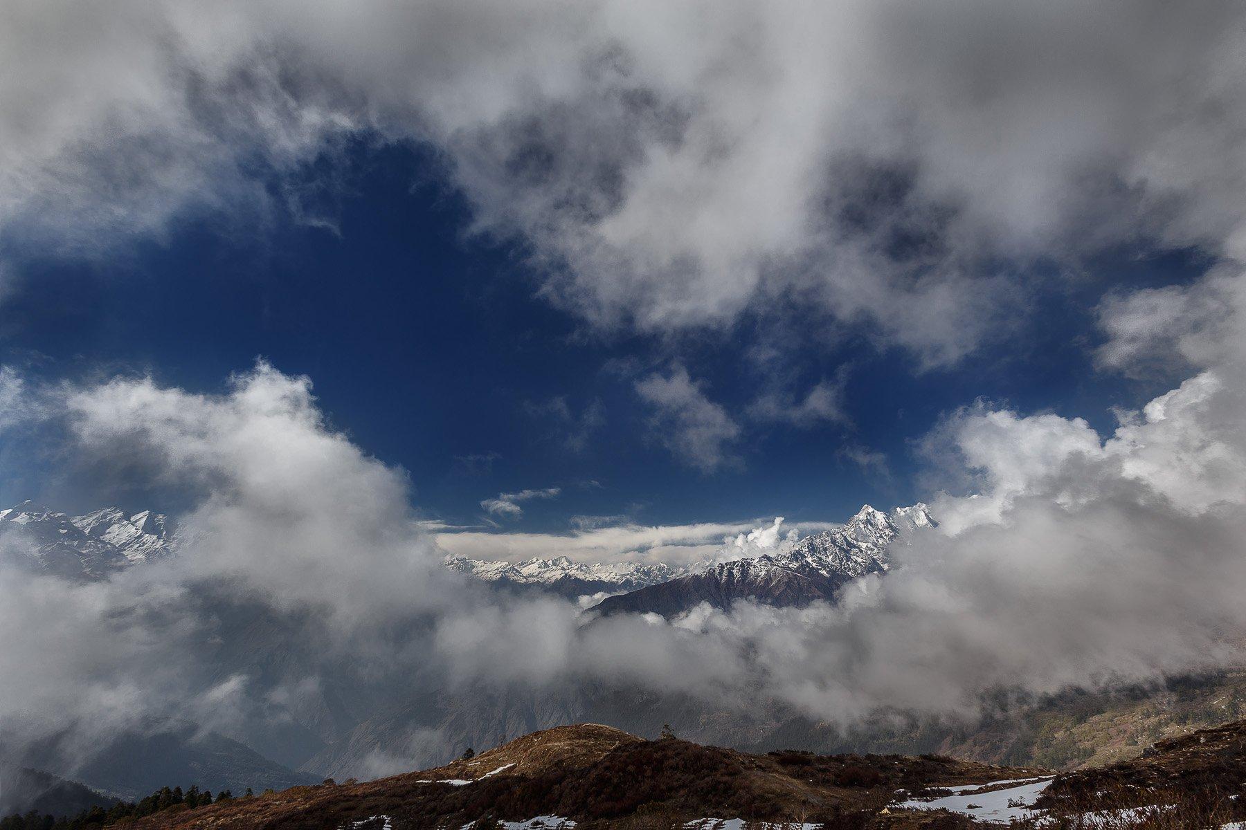 Горы, Лангтанг, Непал, Облака, Пейзаж, Природа, Купрацевич Дмитрий