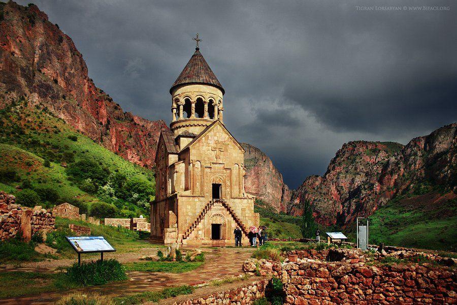 Armenia, Church, Clouds, Green, Landscape, Noravank, Sunlight, Тигран Лорсабян