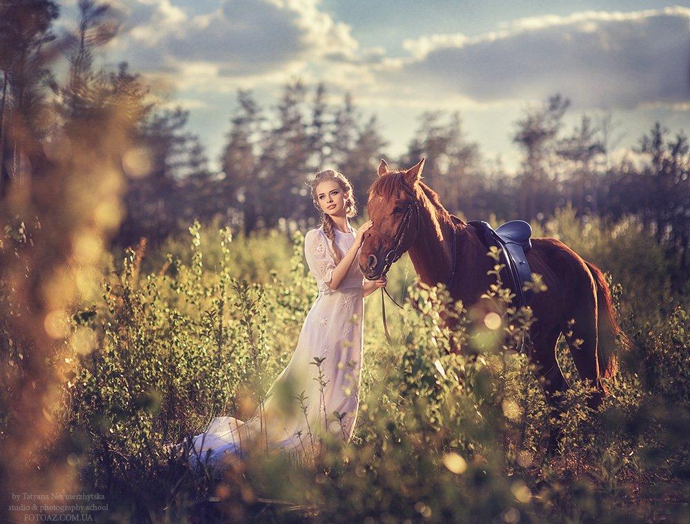 Лес, Лошадь, Поле, Невмержицкая Татьяна