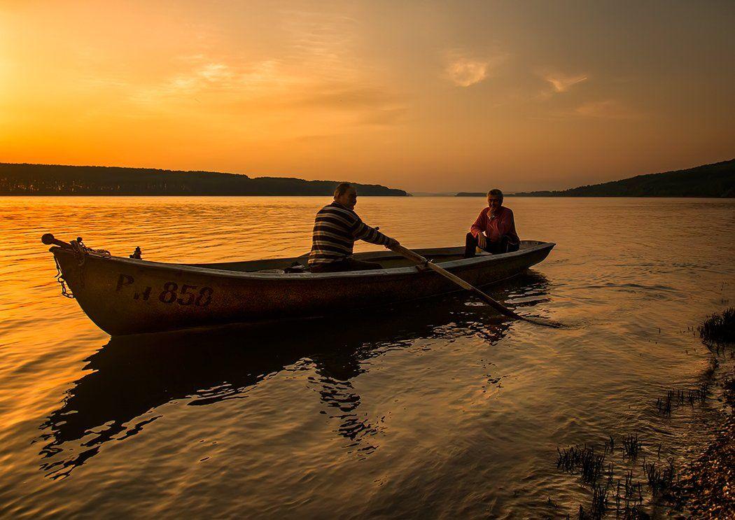 Восход, Дунай, Рыбаки;, Dimitar Stoyanov