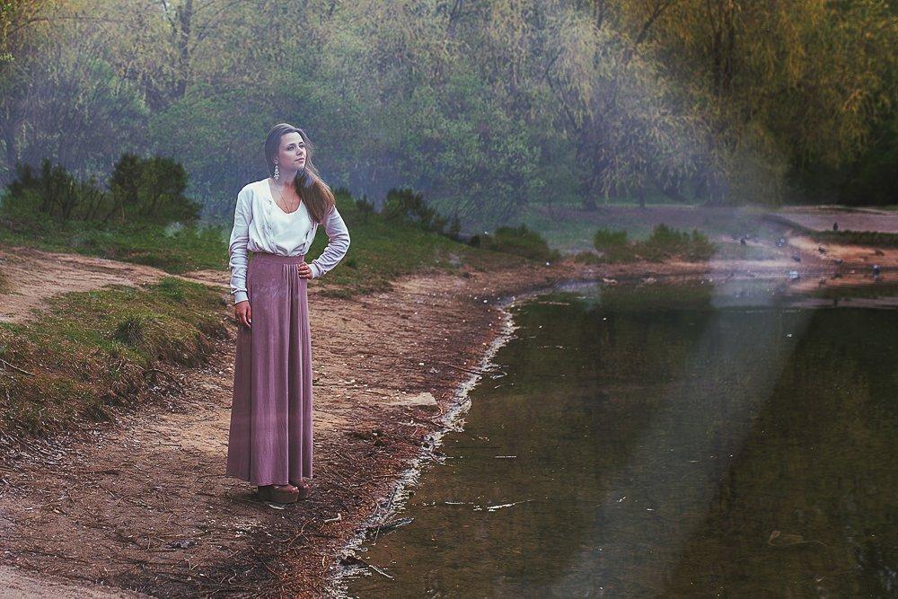 девушка портрет природа парк пруд, Ирина Сиротова