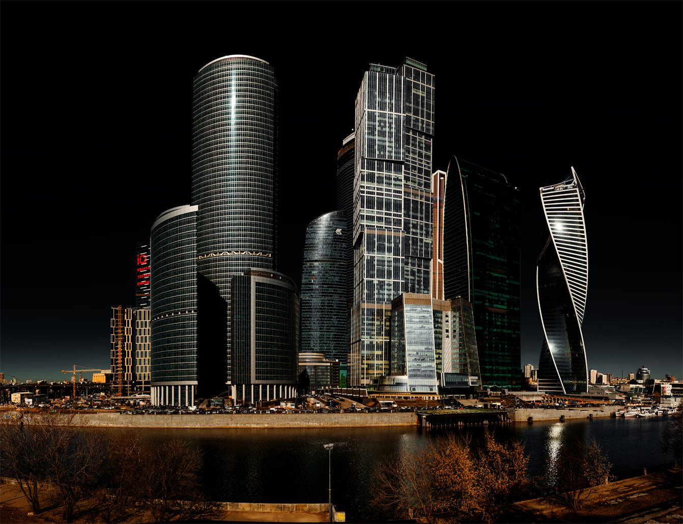 архитектура, город, москва, москва-река, москва-сити, ночь, пейзаж, Альберт Беляев