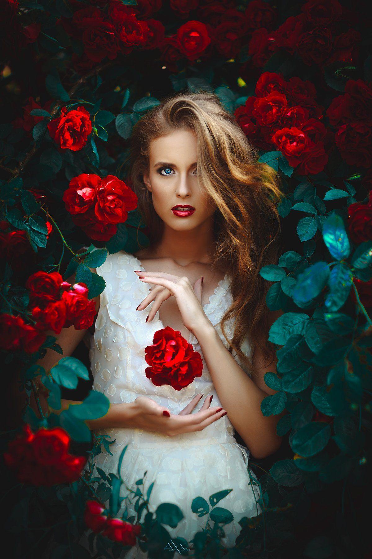 Portrait, Roses, Toning, Woman, Руслан Болгов (Axe)