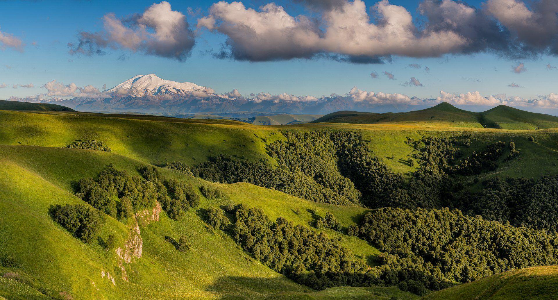 горы, Кавказ, Россия, лето, Эльбрус, Дмитрий Монастырский