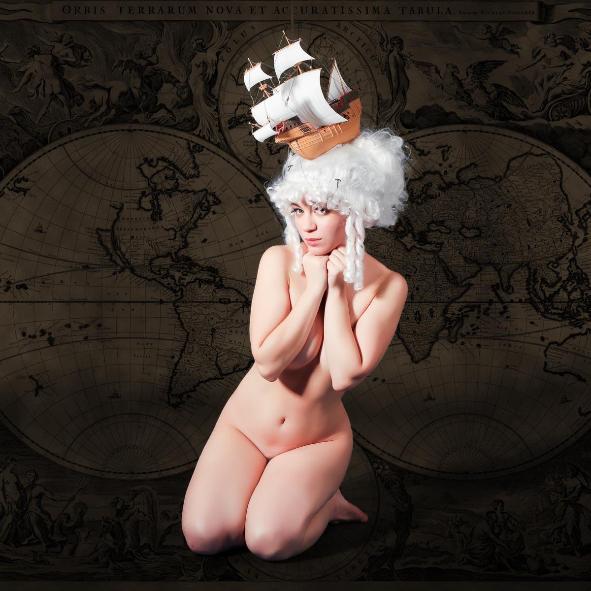A-la Belle Poule, девушка, ню, прическа, старинное, Сергей Козинцев