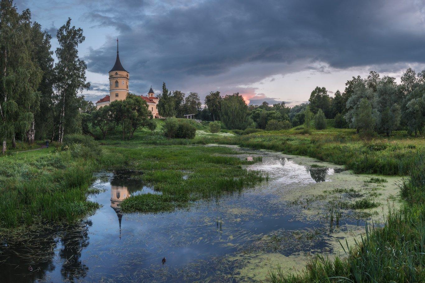 павловск, мариенталь, бип, лето, закат, панорама, Илья Штром