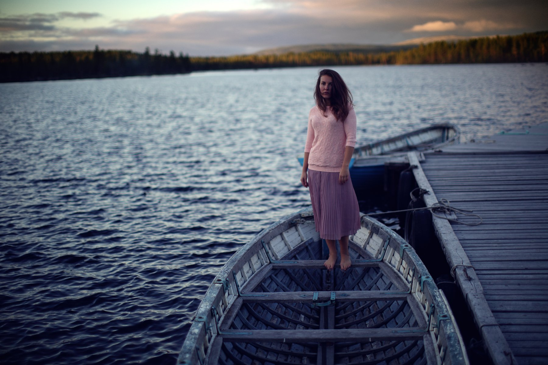 beach, beautiful, boat, clouds, dream, girl, lake, light, nature, ocean, pier, river, sky, sunset, water, wave, Анна Луценко