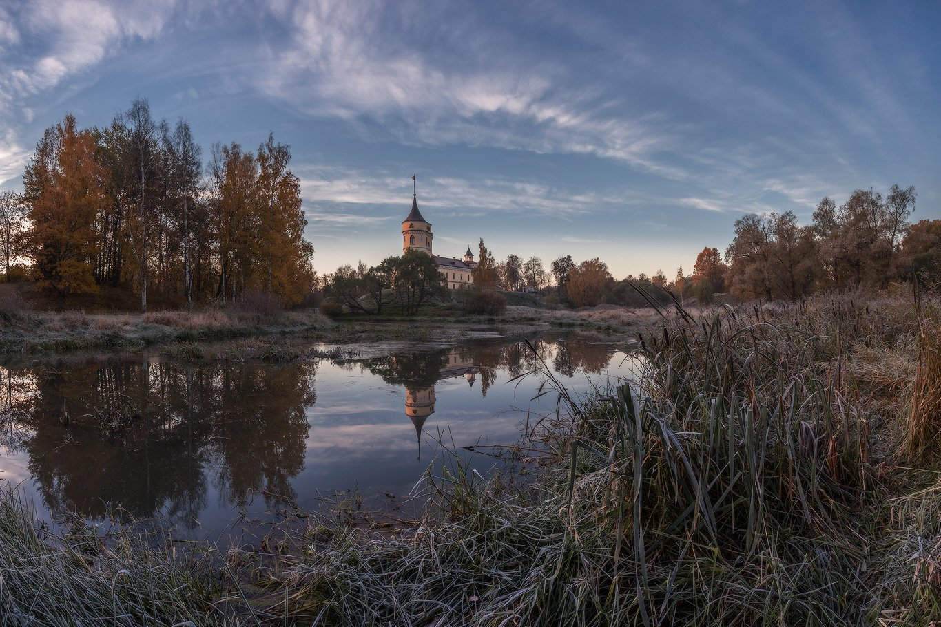 павловск, мариенталь, парк, осень, рассвет, осень, россия, славянка, бип, Илья Штром