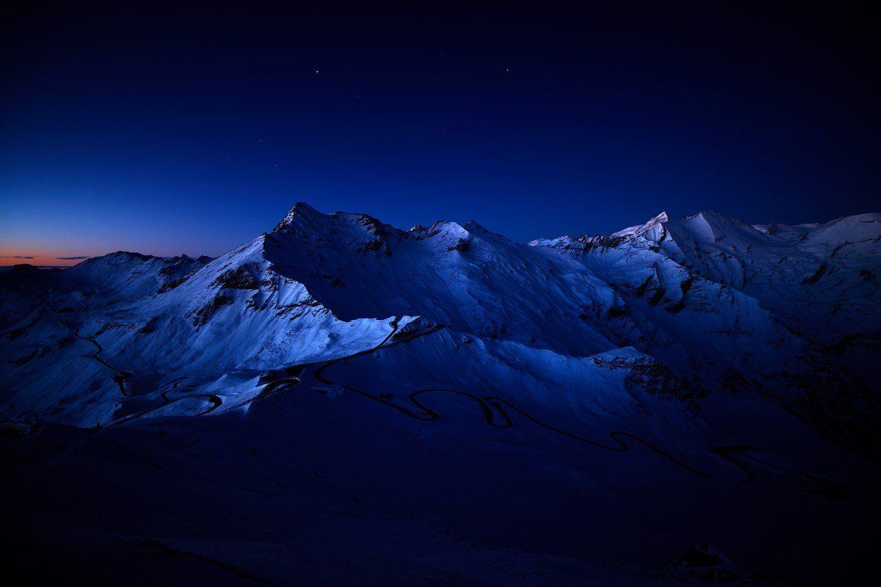 großglockner hochalpenstraße österreich austria mountains moon sunrise, Dirk Juergensen