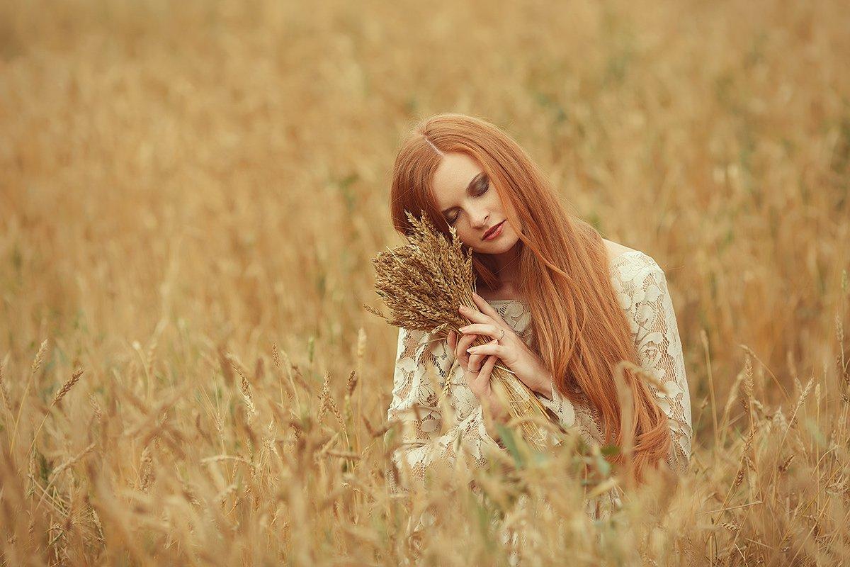 девушка,поле,осень, Шумкова Элина