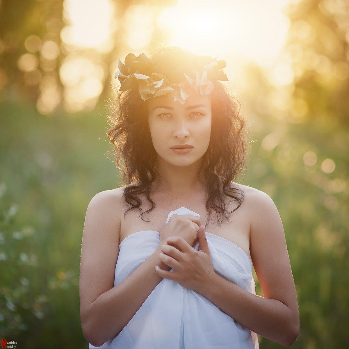 девушка, портрет, лето, солнце, пленэр, ростислав росицкий, Ростислав Росицкий