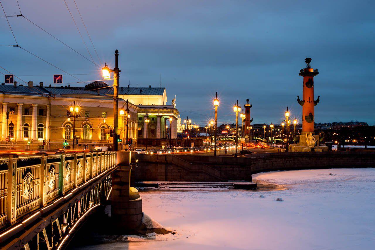 питер, санкт-петербург, васильевский остров, ночное фото, ночной город, город, дворцовый мост, Борис