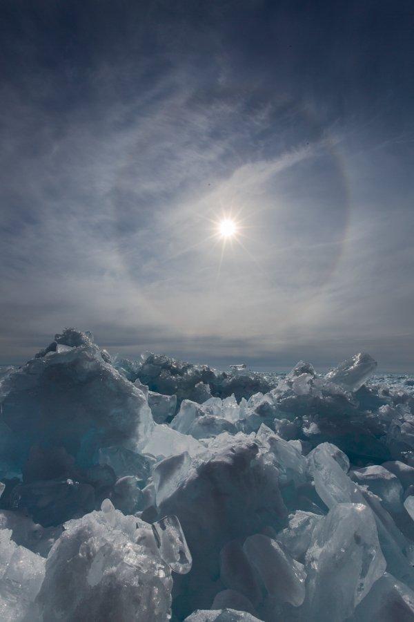 байкал, байкальский лёд, гало, лед, радуга, торосы, холод, Ирина Назарова