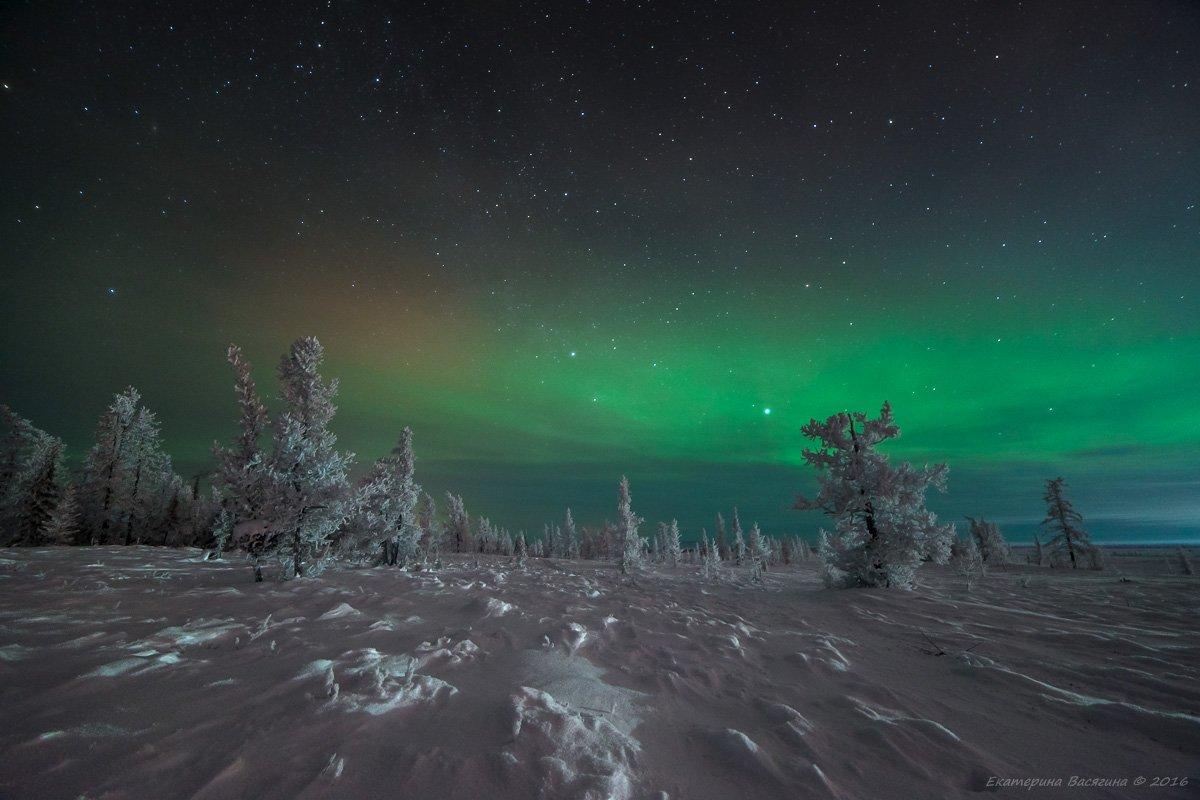 ямал, зима, сияние, Екатерина Васягина (Silent Candle)