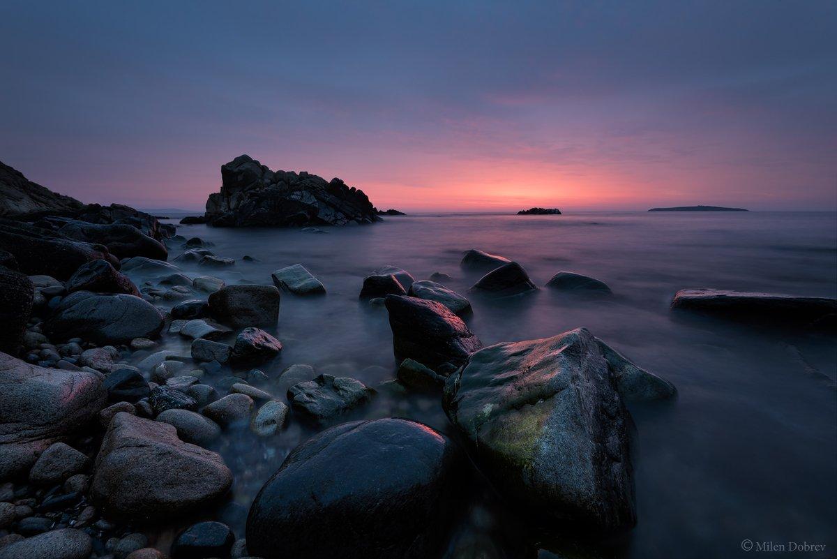 Landscape, seascape, sunrise, rocks, morning, shore, Black sea, Милен Добрев