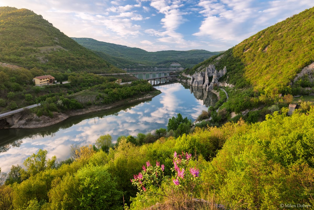 Bulgaria, landscape, spring, river, blossom, Милен Добрев