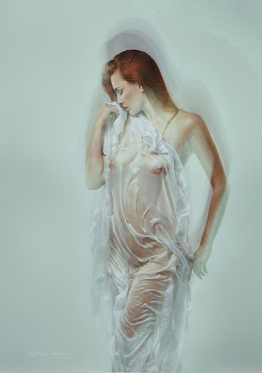Dzhul irina, Girl, Irinadzhul, Nude, People, Portrait, Red, Wet, White, Ирина Джуль