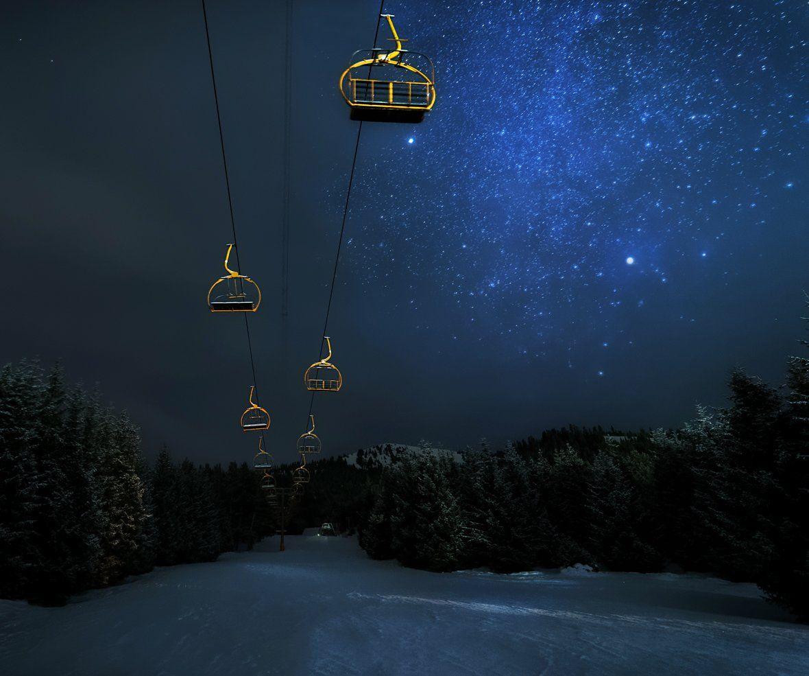 горы, каракол, киргизия, звезды, астропейзаж, Александр Юсупов