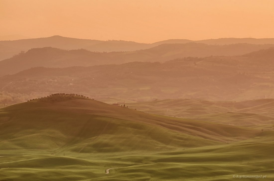 landscape Tuscany hills sunset, Katarzyna Gritzmann