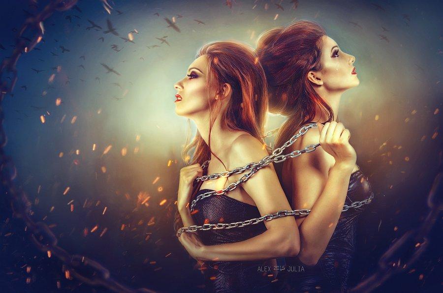 red two beautiful studio model art crows sexy witch flame photoart juliahappy, Лебедева Юлия (Литвинова)