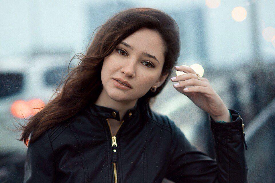 глаза портрет девушка дождь, Максим Лобиков