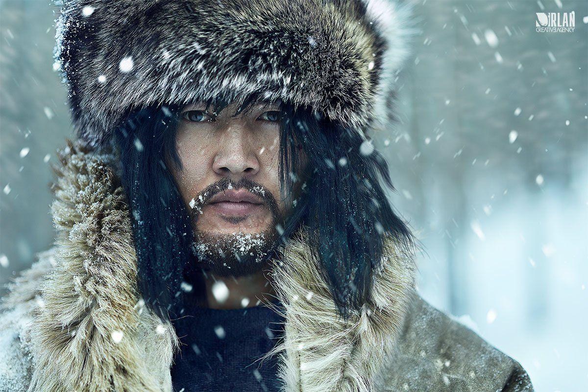 Actor, Battur, Cold, Fur, Man, Mongolia, Mongolian, Portrait, Snow, Winter, Gz Miimaa