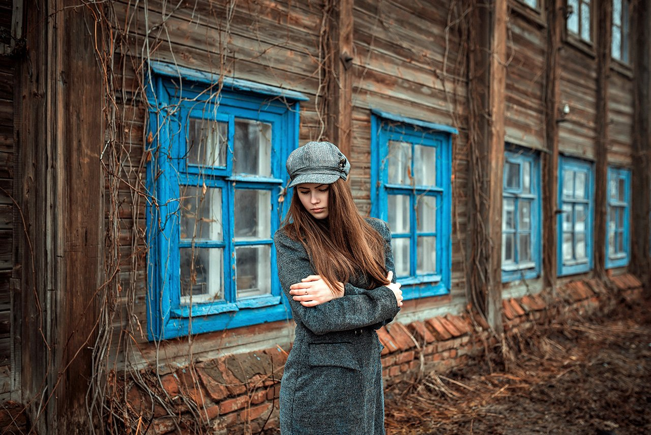 Old house, Весна, Девушка, Провинция, Старый дом, AlexeyAsoskov